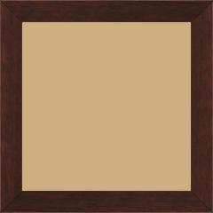 Cadre bois profil plat largeur 2.5cm couleur chocolat satiné - 60x60