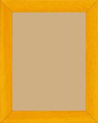 Cadre bois jaune — 15 x 20