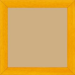 Cadre bois profil plat largeur 2.5cm couleur jaune tournesol satiné - 15x20