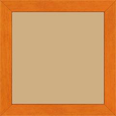 Cadre bois profil plat largeur 2.5cm couleur orange satiné - 15x20