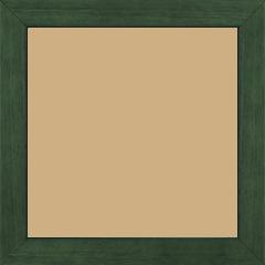 Cadre bois profil plat largeur 2.5cm couleur vert sapin satiné - 40x40