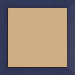 Cadre bois profil plat largeur 2.5cm couleur bleu matisse satiné - 15x20