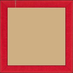 Cadre bois profil plat largeur 2.5cm couleur rouge satiné - 60x80