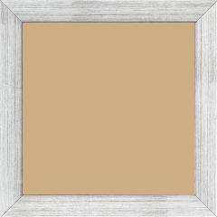 Cadre bois profil plat largeur 2.5cm couleur argent - 50x75