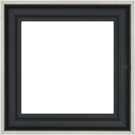 Caisse bois caisse américaine profil escalier largeur 4.5cm noir mat filet argent (spécialement conçu pour les châssis d'une épaisseur jusqu'à 2.5cm ) - 15x20