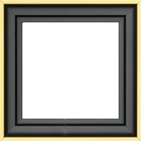 Caisse bois caisse américaine profil escalier largeur 4.5cm noir mat filet or (spécialement conçu pour les châssis d'une épaisseur jusqu'à 2.5cm ) - 15x20