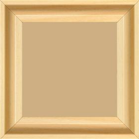 Caisse bois caisse américaine largeur 4.5cm naturel satiné (spécialement concu pour les supports papier necessitant une protection et un isorel assurant le maintien de l'ensemble  : le sujet se met à l'intérieur du cadre ) profil en u - 15x20