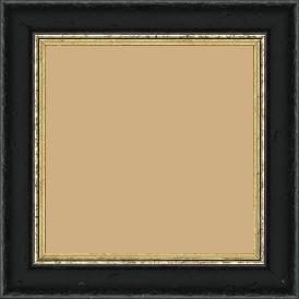 Cadre bois profil incurvé largeur 4.2cm couleur noir antique filet or - 52x150