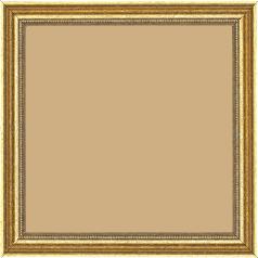 Cadre bois profil incuvé largeur 2.4cm or antique gorge or filet perle or - 60x60