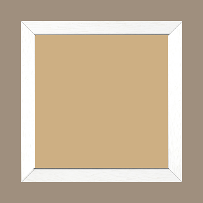 Cadre bois profil plat largeur 2cm hauteur 3.3cm couleur blanc satiné - 42x59.4