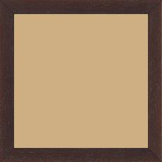 Cadre bois profil plat largeur 2cm hauteur 3.3cm marron foncé satiné (aussi appelé cache clou) - 84.1x118.9