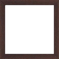 Cadre bois profil plat largeur 2cm hauteur 3.3cm marron foncé satiné (aussi appelé cache clou) - 42x59.4