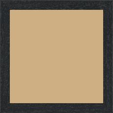 Cadre bois profil plat largeur 2cm hauteur 3.3cm couleur noir satiné - 52x150