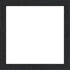 Cadre bois profil plat largeur 2cm hauteur 3.3cm couleur noir satiné (aussi appelé cache clou) - 42x59.4
