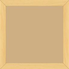 Cadre bois profil plat largeur 2cm hauteur 3.3cm couleur naturel satiné (aussi appelé cache clou) - 20x30
