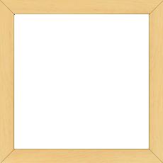 Cadre bois profil plat largeur 2cm hauteur 3.3cm couleur naturel satiné (aussi appelé cache clou) - 42x59.4