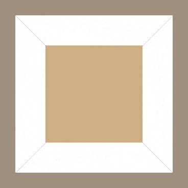 Cadre bois profil plat largeur 5.9cm couleur blanc satiné - 52x150