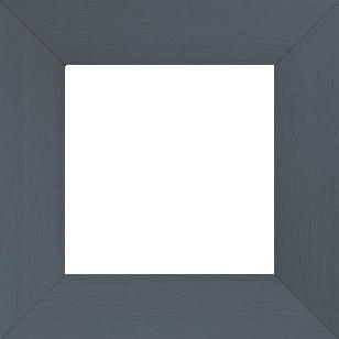 Cadre bois profil plat largeur 5.9cm couleur gris foncé satiné - 110x110