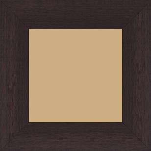 Cadre bois profil plat largeur 5.9cm couleur marron foncé satiné - 84.1x118.9