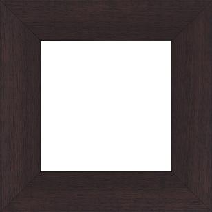 Cadre bois profil plat largeur 5.9cm couleur marron foncé satiné - 110x110