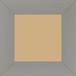 Cadre bois profil plat largeur 5.9cm couleur gris clair satiné - 50x60