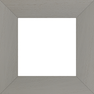 Cadre bois profil plat largeur 5.9cm couleur gris clair satiné - 110x110