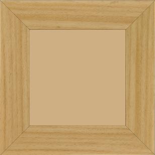 Cadre bois profil plat largeur 5.9cm couleur naturel - 20x30