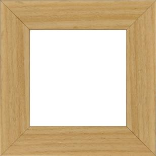 Cadre bois profil plat largeur 5.9cm couleur naturel - 61x46