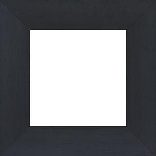 Cadre bois profil plat largeur 5.9cm couleur noir satiné - 110x110