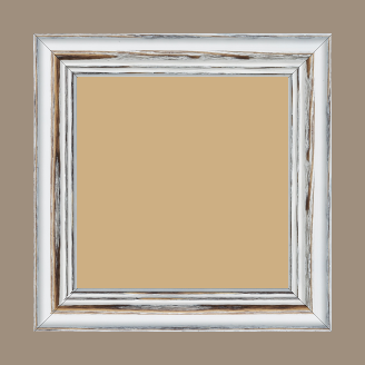 Cadre bois sapin largeur 3.9cm couleur blanchie réessuyée - 15x20