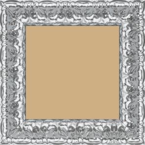 Cadre bois profil incurvé largeur 5.3cm couleur argent ckromé style baroque - 60x90