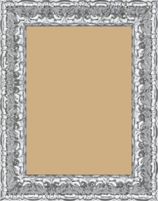Cadre  bois argent — 21 x 29.7