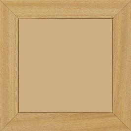Cadre bois profil plat largeur 3.8cm ayous massif naturel (sans vernis,peut être peint...) - 15x20