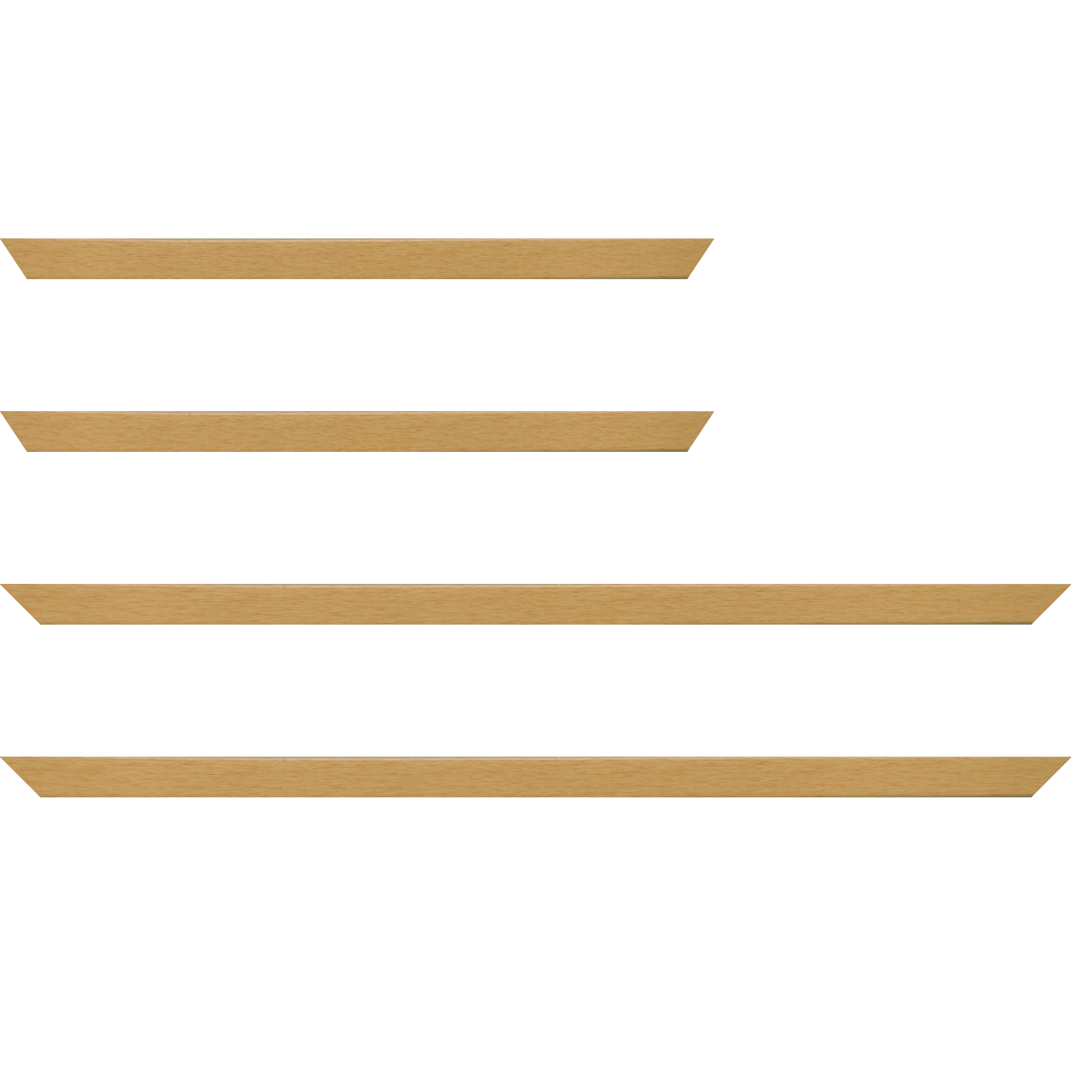Baguette bois profil plat largeur 2cm ayous massif naturel