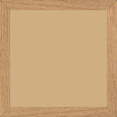 Cadre bois profil plat largeur 2cm chêne massif naturel - 20x30