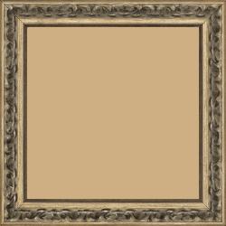 Cadre bois profil incurvé largeur 3cm argent chaud patiné - 15x20