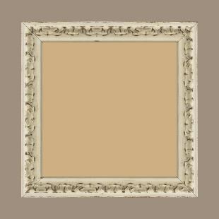 Cadre bois profil incurvé largeur 3cm blanchie finition antiquaire - 24x30