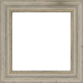 Cadre bois profil incurvé largeur 4cm argent filet perle - 61x46