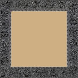 Cadre bois profil plat largeur 3.9cm couleur marron foncé antique motif rosace filet perle - 84.1x118.9
