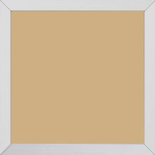 Cadre bois recouvert aluminium profil plat largeur 1.6cm argent brossé  bord droit - 21x29.7