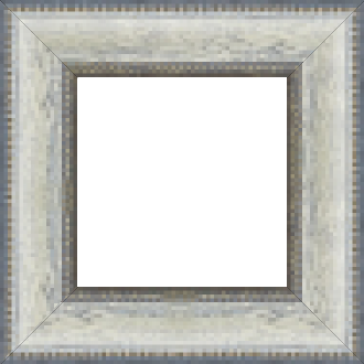 Cadre bois profil incurvé largeur 7cm couleur bleu blanchie aspect veiné liseret or noirci - 61x46