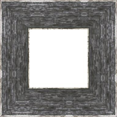 Cadre bois profil plat largeur 9.6cm couleur moka filet argent chaud sur les bords antique - 61x46