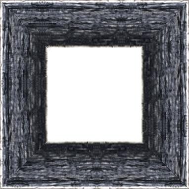 Cadre bois profil plat largeur 9.6cm couleur noir filet argent chaud sur les bords antique - 61x46