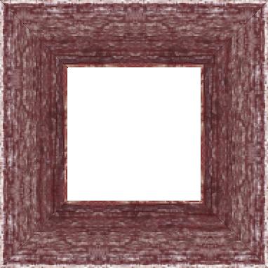 Cadre bois profil plat largeur 9.6cm couleur bordeaux filet argent chaud sur les bords antiques - 61x46