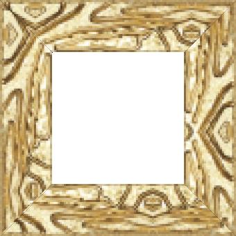 Cadre bois profil incurvé largeur 7.5cm couleur or tonique effet pli - 61x46