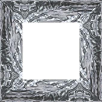 Cadre bois profil incurvé largeur 7.5cm couleur argent ckromé effet pli - 61x46