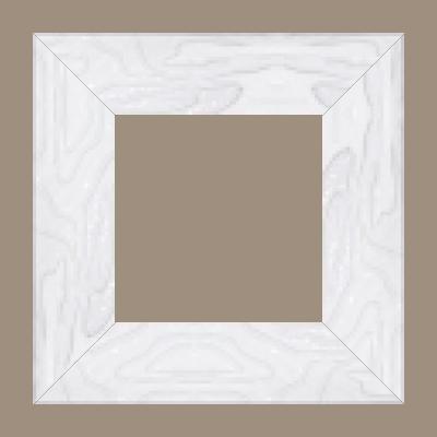 Cadre bois profil incurvé largeur 7.5cm couleur blanc laqué effet pli - 61x46