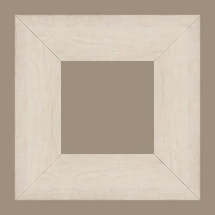 Cadre bois profil plat largeur 9.5cm couleur blanchie bois veiné - 61x46