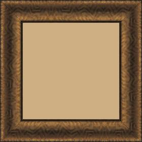 Cadre bois profil incurvé largeur 4.5cm cuivre foncé finition aspect cuir - 40x60