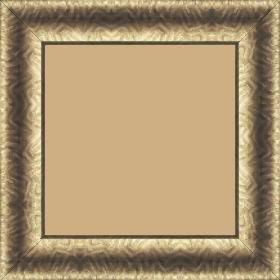 Cadre bois profil incurvé largeur 4.5cm bronze finition aspect cuir - 21x29.7